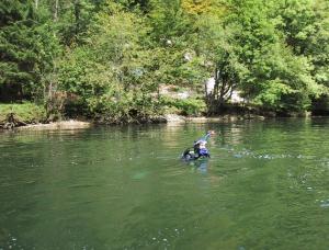 Plongée dans le Doubs